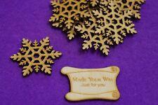 MDF Snowflake A 2cm, 3cm, 4cm, 5cm, 6cm, 7cm - Laser cut wooden shape