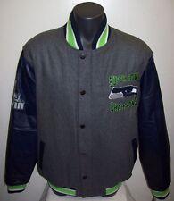 SEATTLE SEAHAWKS Super Bowl Championship Wool & Leather Jacket 2X, 3X