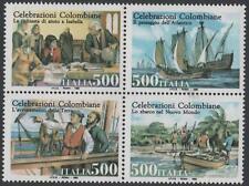 1992 Celebrazioni colombiane - Italia - blocco di 4