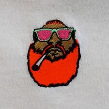 Action bronson weed tête brodé hip hop blanc tee t-shirt en réalité