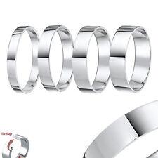 Palladium Wedding Ring Heavy Weight Flat Court Shaped Solid Hallmarked Band