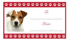 JACK Russell Regalo Di Compleanno Natale Etichette Adesivo cane Animale Pet Amante