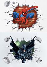Batman Spiderman 3D Wandtattoo Wandsticker Deko Kinderzimmer Geschenk Kinder