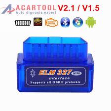 Mini ELM327 Bluetooth V1.5 V2.1 OBD2 Car Diagnostic Tool Scanner Android Torque