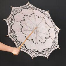 Wedding Bride Umbrella Photography Decoration Girl Cotton Lace Parasol Handmade