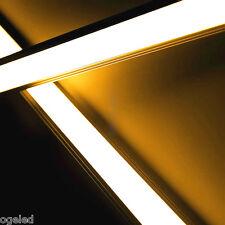 Alu LED-Lichtleiste ab 50cm mit 36 HP LEDs Abdeckung diffus - 12V weiß/warmweiß