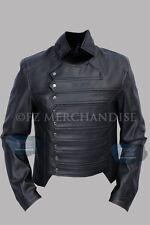 Captain America The Winter Soldier Bucky Barnes Leather Vest Jacket