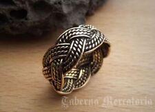Ring Bronze Keltik  Flechtmuster geflochtener Freundschaftsring gr.54-72
