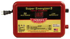 Parmak SE-5 Super Energizer 5 Electric Fence Charger, 50-Mile, Low Impedance,