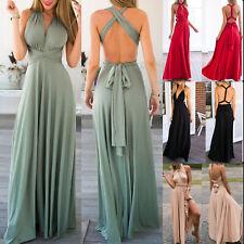 fd325afc085326 Damen Kleid Wickelkleid Hochzeitskleid Maxikleid Partykleid Abendkleid  Ballkleid