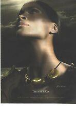 PUBLICITE ADVERTISING 2009  TIFFANY & CO bijoux laqués collier pendantif