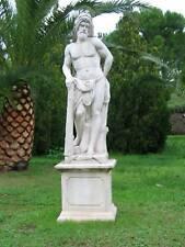 ARREDO DA GIARDINO in cemento e marmo statua maestoso ercole altezza 170 cm.