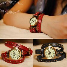 Wickelarmbanduhr Serie 2-Echt Leder-Herren Damen-Armbanduhr-Wickelarmband-Watch