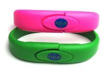 4 GB Flag USB Flash Drive Green or Pink Silicone Wrist Band Bracelet
