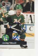 DOUG SMAIL SIGNED 1991-92 PROSET #117 - MINNESOTA NORTH STARS