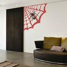 Spider Web Wall Sticker Halloween Inspired Child Baby Room Vinyl Art Decor Idea