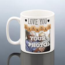 GRANDAD PHOTO MUG Personalised Birthday Gift Scrabble Grandpa Cup Love Grandad