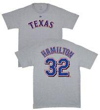 MLB Baseball Name & Number T-shirt Texas Rangers Josh Hamilton #32 GRIGIO