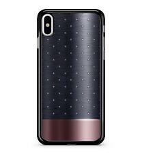 Rose Gold Stunning Black Polka Dot Pattern Metal Effect 2D Phone Case Cover