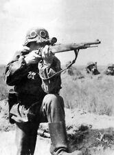 WW2 German Sniper K98 Mauser B&W Photo WWII Germany World War Two Wehrmacht
