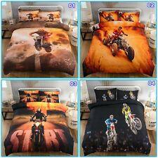 Motorcycle Race Quilt Doona Duvet Cover Set Single/Double/Queen/King Size Bed