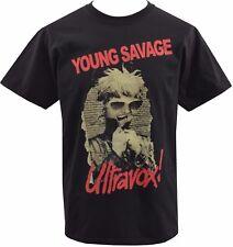 Da Uomo Nero T-shirt ULTRAVOX giovane SAVAGE RECORD British NEW WAVE PUNK S-5XL