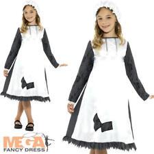 Victorian Maid Girls Fancy Dress Dickens Edwardian Servant Kids Childs Costume