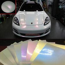 Full Roll Hot Glossy Matte Pearl White Chameleon Vinyl Car Wrap Film Sticker AB