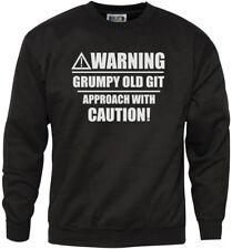 Avvertenza scontroso Old Git-Divertente VECCHIO Youth & Felpa da uomo