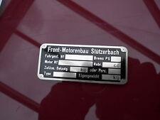 Typenschild Front Motorenbau schild Oldtimer motor Motorrad