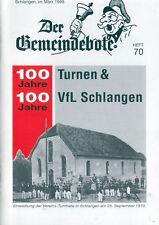 Gemeindebote Schlangen 70, 100 J. Turnen und VfL 1999