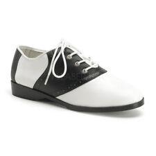 Black White Saddle Shoes 1950s Sock Hop Poodle Skirt Shoes Womans size 7 8 9 10