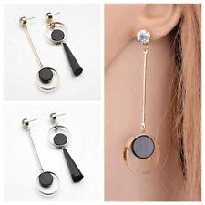 de cristal Colgante de acrilico negro Dangle Earring Asimetría Ear Stud