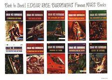1960s Edgar Rice Burroughs Mars Ballantine reprint promotional poster 8 1/2 x 11