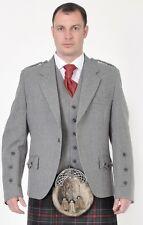Scottish Grey Crail Kilt Jacket & Vest New Line all sizes Offer Price £179