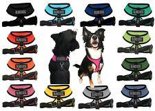 BLIND DEAF DOG Mesh Padded Soft Puppy Pet Dog Harness Breathable 12 Colors