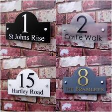 Personalised House Sign Door Number Street Address Plaque Modern BRIDGE Glass