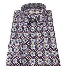 ICON LAB 1961 camisa de hombre fantasía 100 % algodón ligero