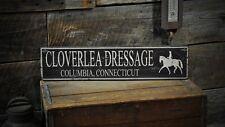 Custom Dressage Horse Farm Sign -Rustic Hand Made Vintage Wooden Sign ENS1000353