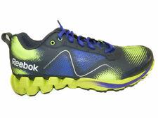 Reebok Women's Zigkick Wild Gravel / Purple / Yellow Athletic Running Shoes