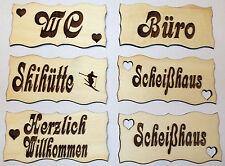 Türschild aus Holz Holzschild Schilder Deko Türe Wohnen Basteln