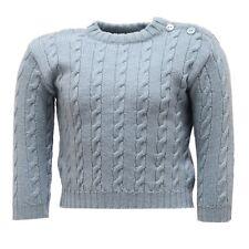 9434U maglione bimbo PAIO CRIPPA lana merino azzurro sweater kid