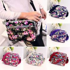 Women Floral Crossbody Handbag Messenger Bag Travel Cross Over Bag Multi-color