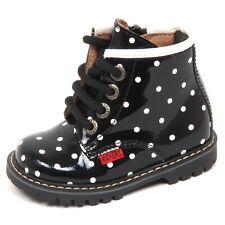 E2270 anfibio bimba nero KICKERS RACHEL scarpe pois boot shoe kid baby girl