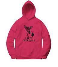 I Love My Chihuahua Men Women Unisex Sweater Jacket Pullover Hoodie