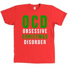 OCD Obsessive Christmas Disorder T Shirt Funny Holidays Tee - MANY COLORS