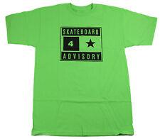 FOURSTAR Skateboard Shirt ADVISORY GREEN