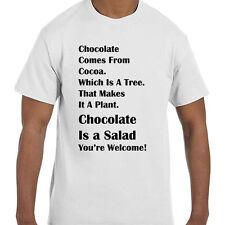 Funny Humor Chocolate Is A Salad!! T-Shirt tshirt
