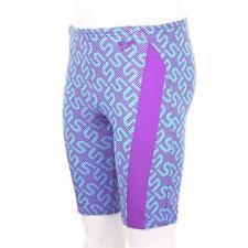 Speedo Boys Monogram Allover Jammer Swim Short Purple Blue