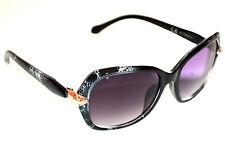 OCCHIALI da SOLE donna GRIGIO NERO serpente ORO lenti ovali sunglasses E60